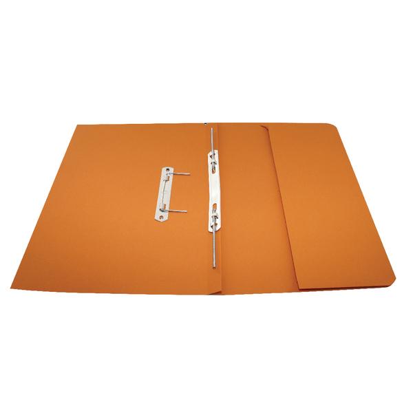 Rexel Jiffex Orange Foolscap Pocket File (Pack of 25) 43316EAST