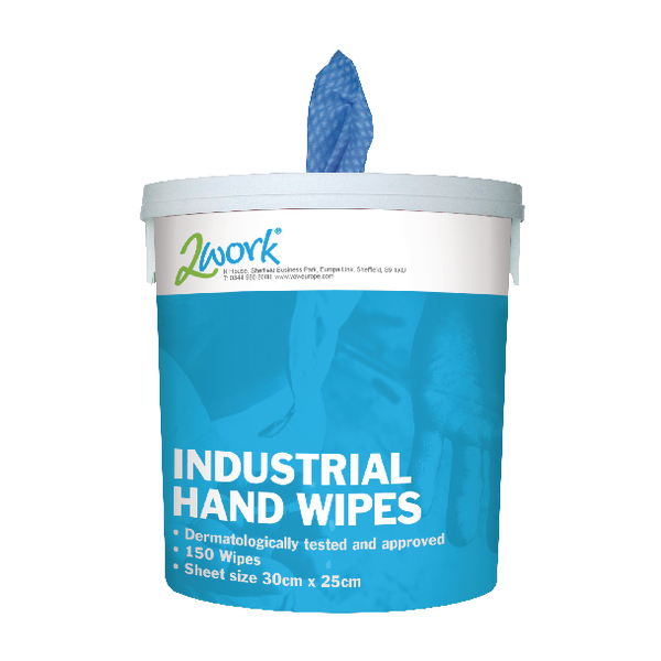 EcoTech Industrial Hand Wipes 300x250mm (Pack of 150) EBMH150