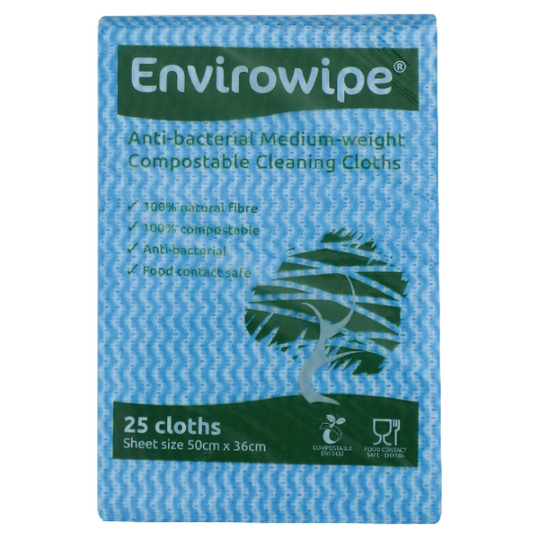 Envirowipe Cloths 500x360mm Blue Pk25