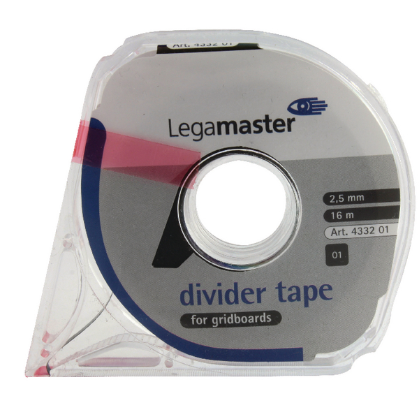 Legamaster Black Self-Adhesive Tape For Planning Boards 16m 4332-01