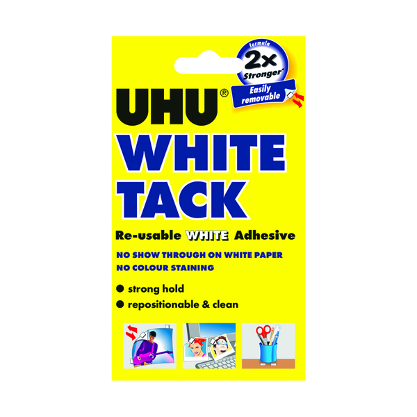 UHU White Tack 62g (Pack of 12) 42196