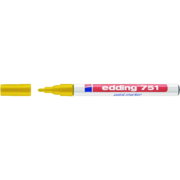 Edding 751 Fine Yellow Bullet Tip Paint Marker (Pack of 10) 751-005