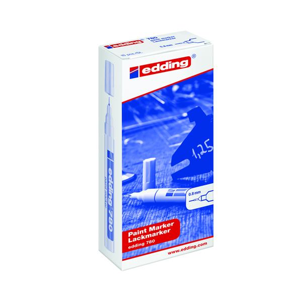 Edding 780 Extra Fine Tip White Paint Marker (Pack of 10) 780-049