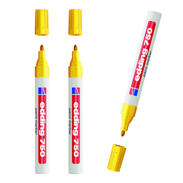 Edding Paintmarker Opaque Yellow (3 Packs of 10)