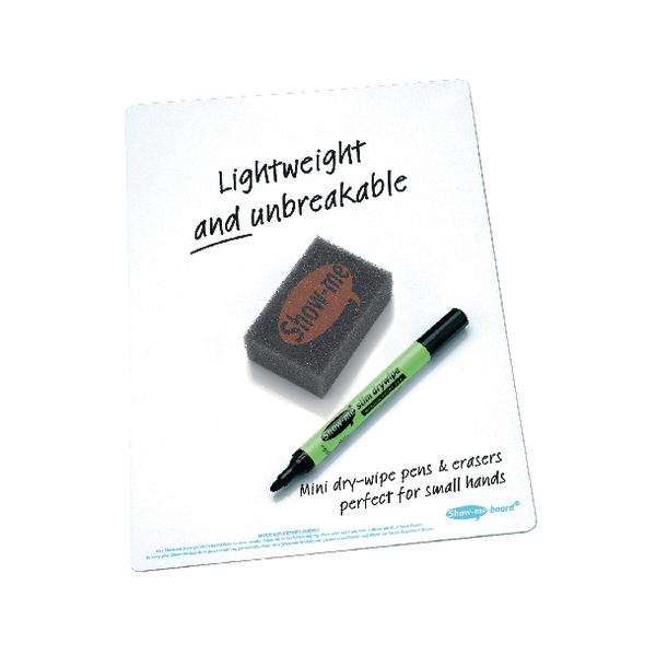 Show-me Whiteboard A4 Plain (Pack of 100) B/SMB