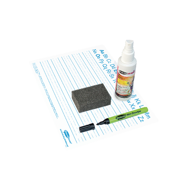 Showme Classpack Drywipe Board with Pens and Erasers Pack of 35 C/HWB