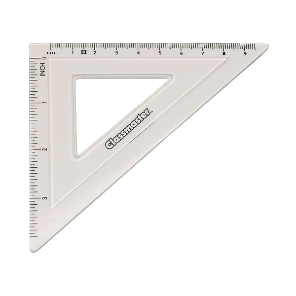 Image for Classmaster 45 Degree Set Square Clear (Pack of 30) S45/30