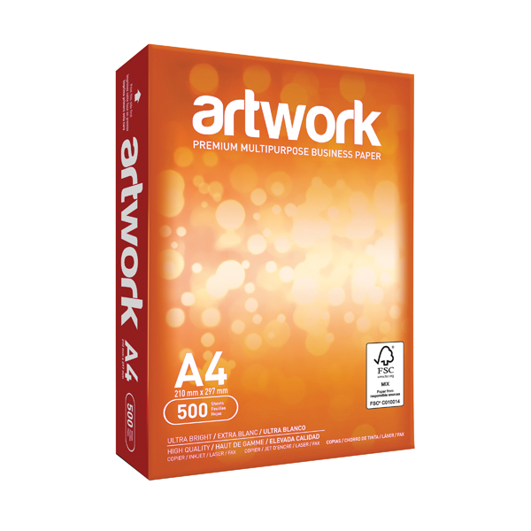 Artwork A4 White Paper 75gsm (Pack of 2500)