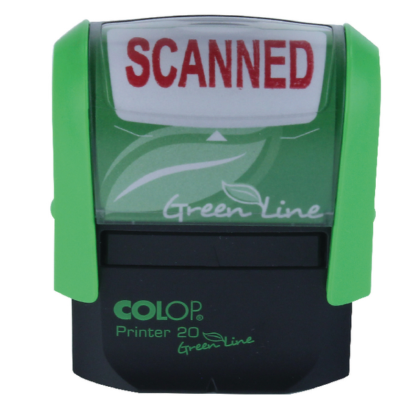 COLOP Green Line Word Stamp SCANNED Red P20GLSCA
