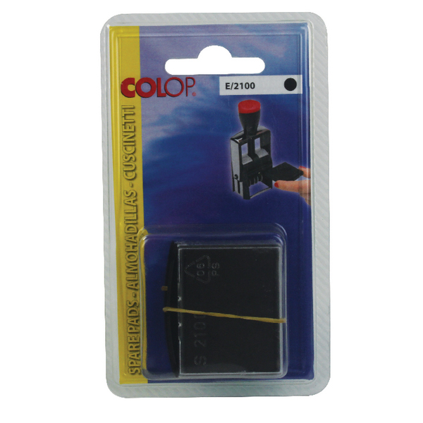 COLOP E/2100 Replacement Ink Pad Black (Pack of 2) E2100BK