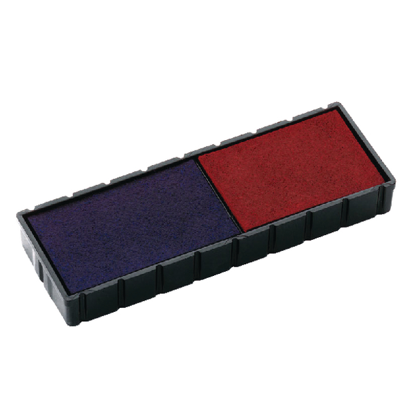 COLOP E/12/2 Replacement Ink Pad Blue/Red (Pack of 2) E/12/2
