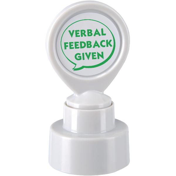 Image for Colop Motivational Stamp VERBAL FEEDBACK GIVEN Pre-Inked Green 148673