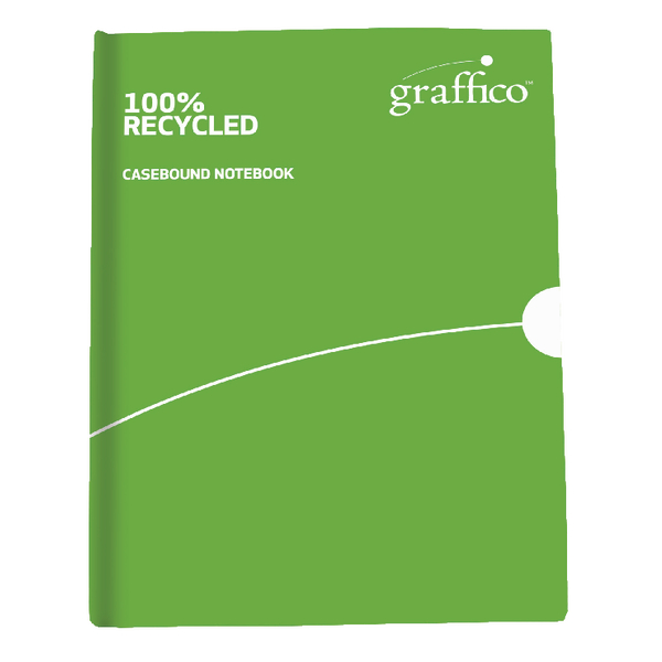 Image for Graffico Recycled Casebound A6 Notebook Feint Ruled 160 Pages 9100034