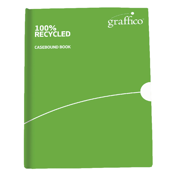 Graffico Recycled Casebound Notebook 160 Pages A4 9100032