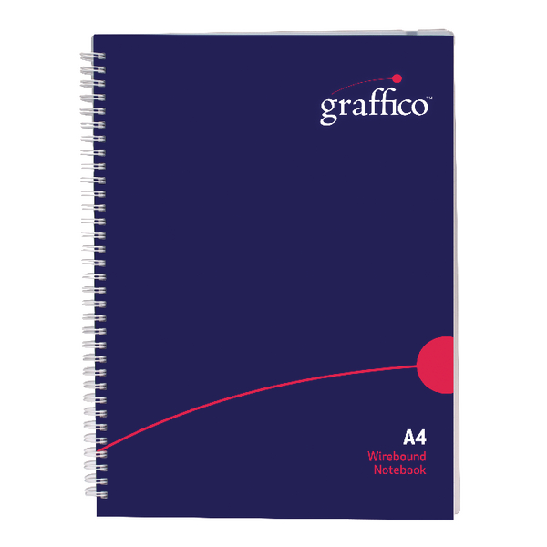 Graffico Polypropylene Wirebound Notebook 140 Pages A4 500-0504