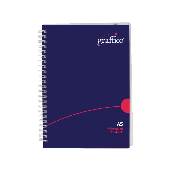 Graffico Polypropylene Wirebound Notebook 140 Pages A5 500-0505
