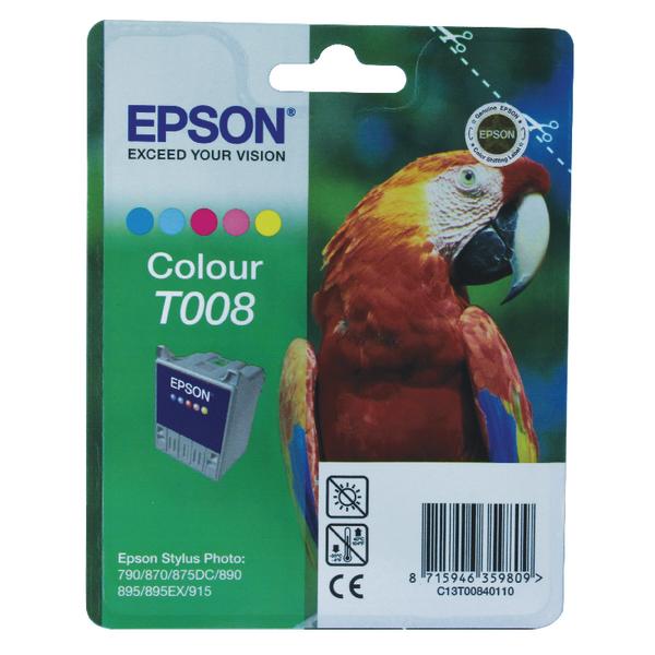 Epson T008 Cyan/Magenta/Yellow/Light Cyan/Light Magenta Inkjet (Pack of 2) C13T00840110 / T0084