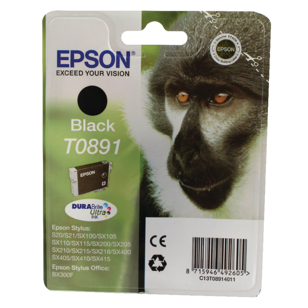 Epson T0891 Black Ink Cartridge C13T08914011 / T0891