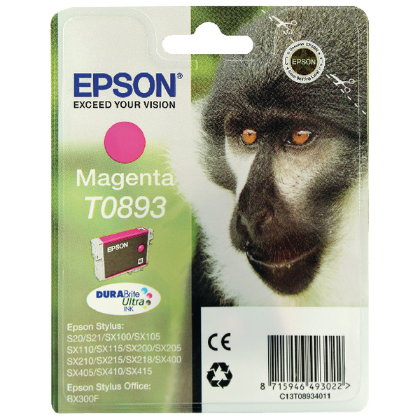 Epson T0893 Magenta Ink Cartridge C13T08934011 / T0893