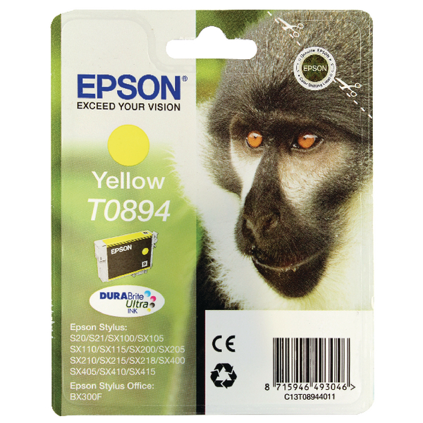 Epson T0894 Yellow Ink Cartridge C13T08944011 / T0894