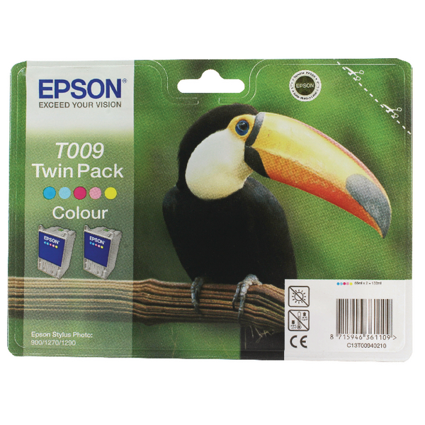 Epson T0094 Cyan/Magenta/Yellow/Light Cyan/Light Magenta Inkjet (Pack of 2) C13T00940210 / T0094