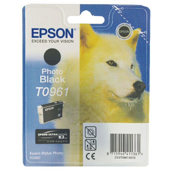 Epson T0961 Photo Black Ink Cartridge C13T09614010 / T0961