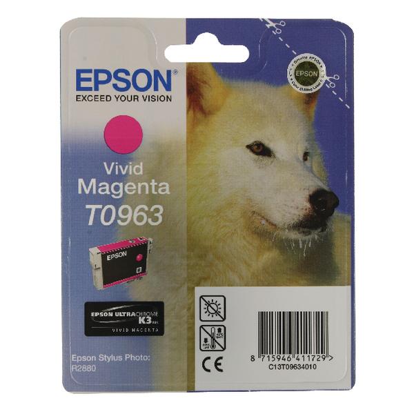 Epson T0963 Vivid Magenta Inkjet Cartridge C13T09634010 / T0963
