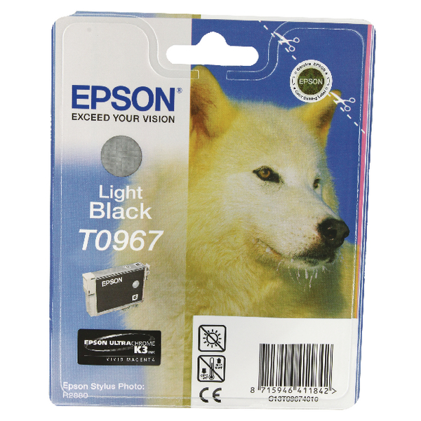 Epson T0967 Light Black Inkjet Cartridge C13T09674010 / T0967