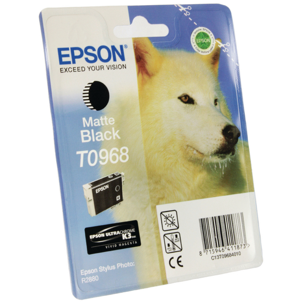 Epson T0968 Matte Black Inkjet Cartridge C13T09684010 / T0968