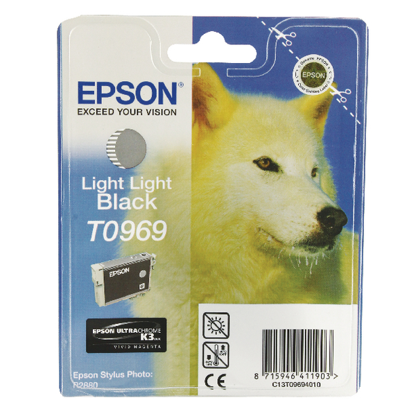 Epson T0969 Light Light Black Ink Cartridge C13T09694010 / T0969