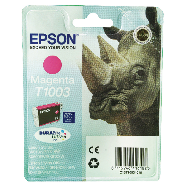 Epson T1003 Magenta Ink Cartridge C13T10034010 / T1003