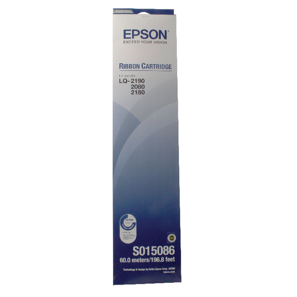 Epson Fabric Black Ribbon Cartridge FX-2170 LQ-2070/LQ-2170 S015086 C13S015086