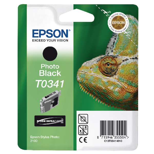 Epson T0341 Black Inkjet Cartridge C13T03414010 / T0341