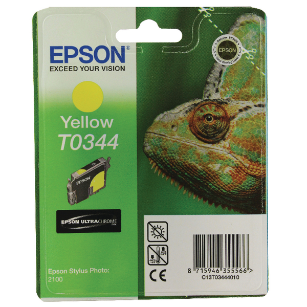 Epson T0344 Yellow Inkjet Cartridge C13T03444010 / T0344