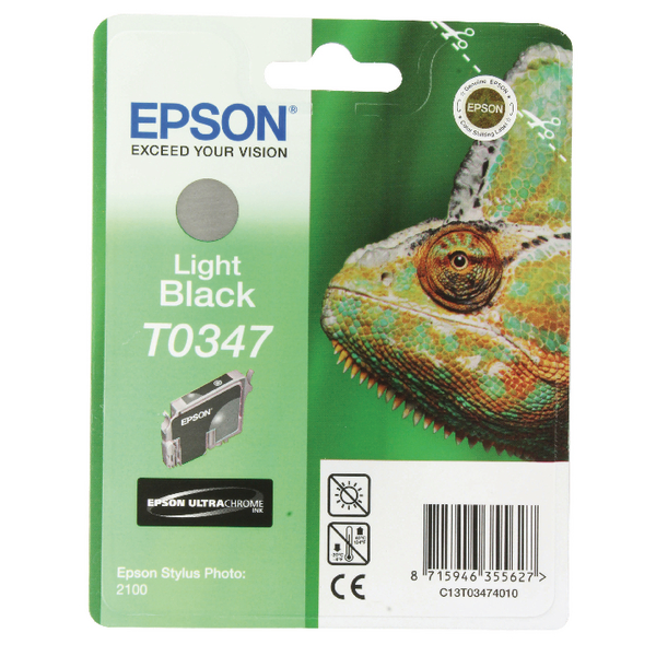 Epson T0347 Light Black Inkjet Cartridge C13T03474010 / T0347
