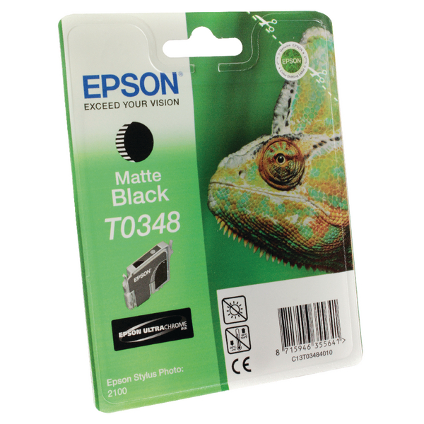 Epson T0348 Matte Black Inkjet Cartridge C13T03484010 / T0348
