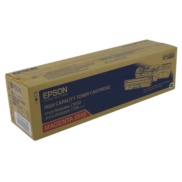 Epson AcuLaser C1600/CX16 High Capacity 2.7K Magenta Toner Cartridge C13S050555
