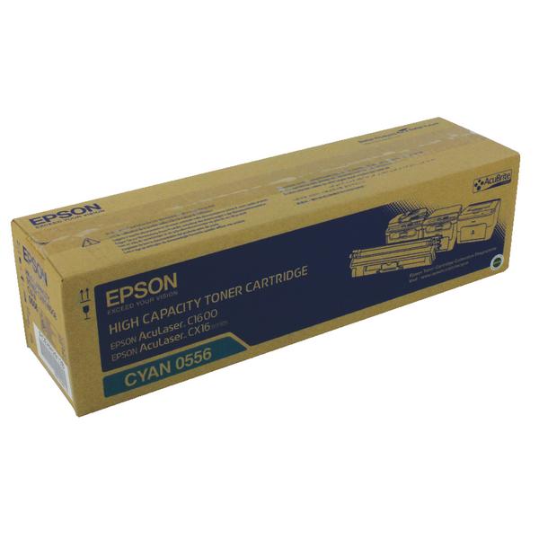Epson AcuLaser C1600/CX16 High Capacity 2.7K Cyan Toner Cartridge C13S050556