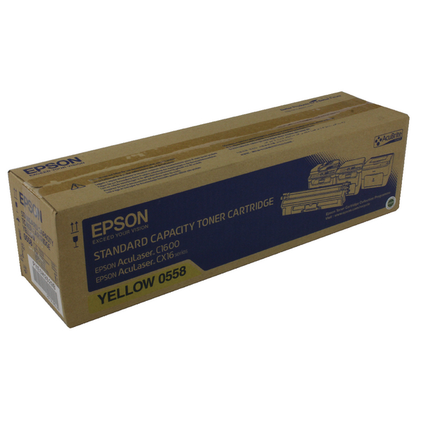 Epson AcuLaser C1600/CX16 Yellow Toner Cartridge Standard Capacity 1.6K C13S050558