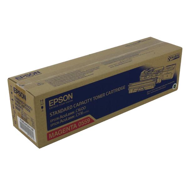 Epson AcuLaser C1600/CX16 Magenta Toner Cartridge Standard Capacity 1.6K C13S050559