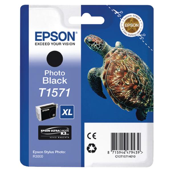 Epson T1571 Photo Black Inkjet Cartridge C13T15714010 / T1571