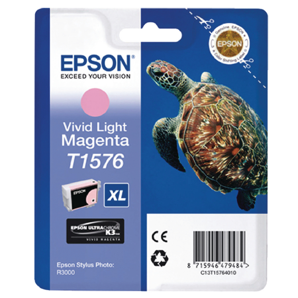 Epson T1576 Light Magenta Inkjet Cartridge C13T15764010 / T1576