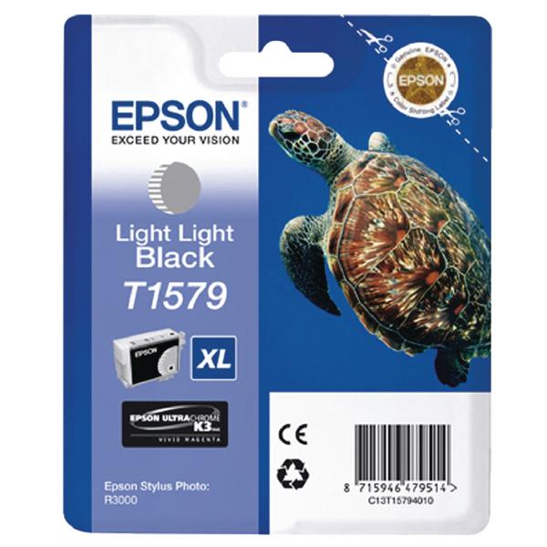 Epson T1579 Light Light Black Inkjet Cartridge C13T15794010 / T1579