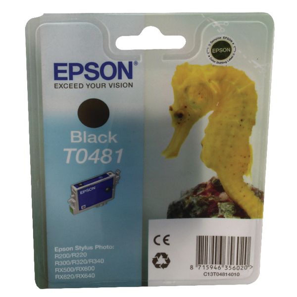 Epson T0481 Black Inkjet Cartridge C13T04814010 / T0481