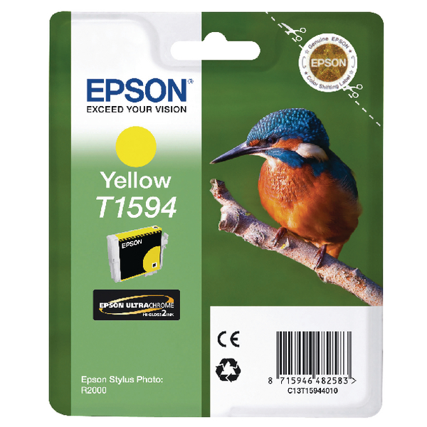 Epson T1594 Yellow Inkjet Cartridge C13T15944010 / T1594
