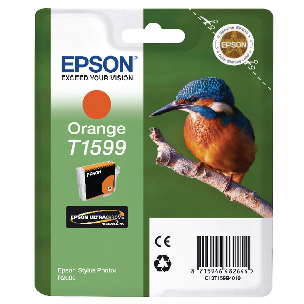Epson T1599 Orange Inkjet Cartridge C13T15994010 / T1599
