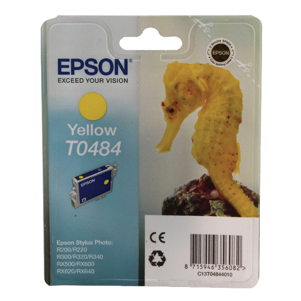 Epson T0484 Yellow Inkjet Cartridge C13T04844010 / T0484