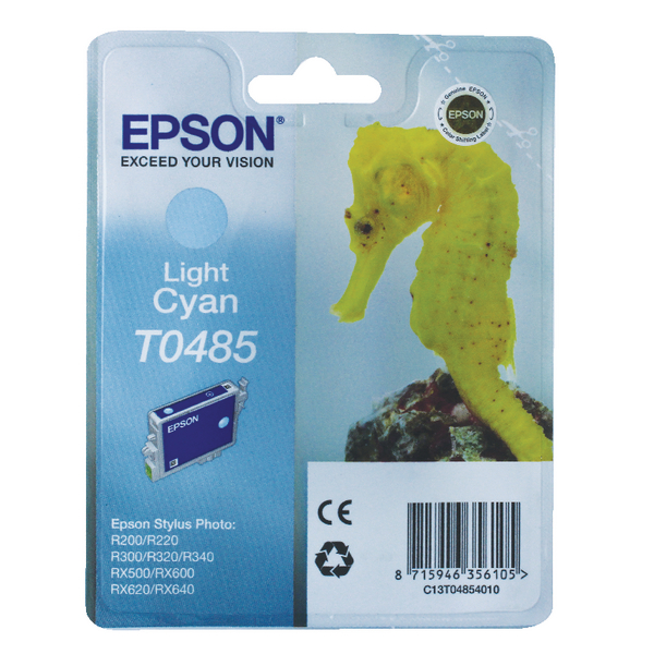Epson T0485 Light Cyan Inkjet Cartridge C13T04854010 / T0485