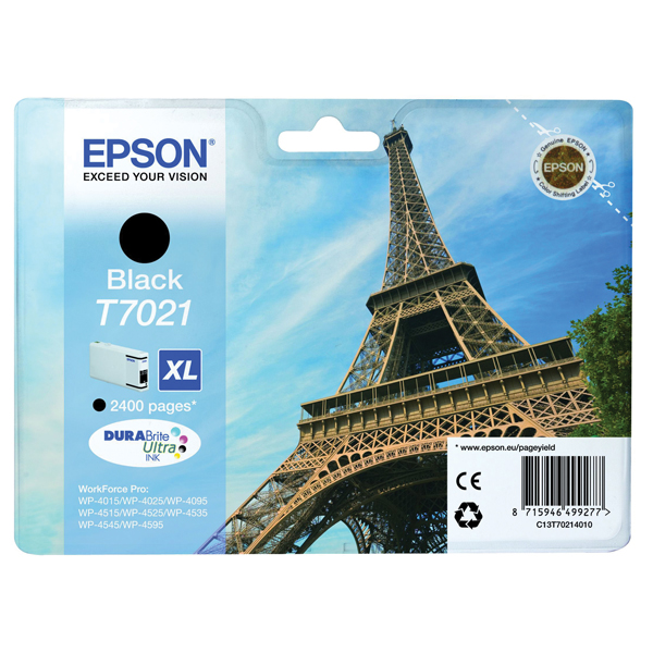 Epson T7021 High Yield Black Inkjet Cartridge C13T70214010 / T7021