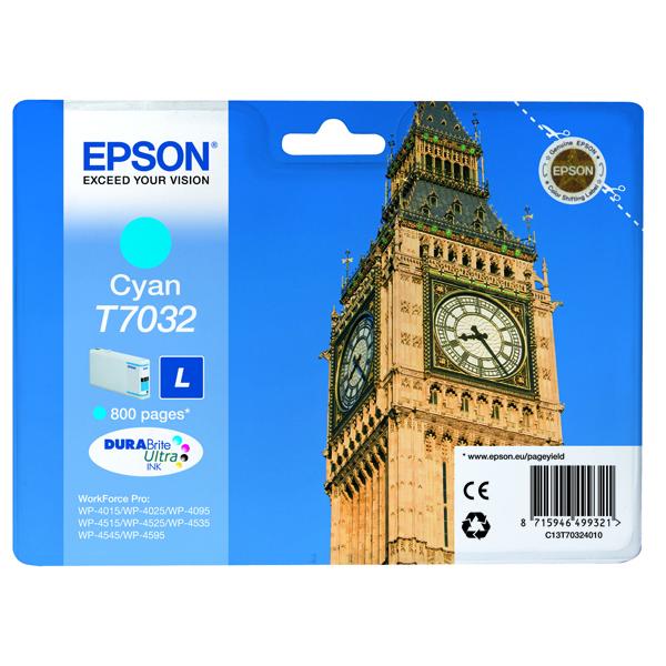 Epson T7032 Cyan Inkjet Cartridge C13T70324010 / T7032